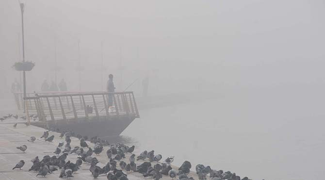 Çanakkale'de yoğun sis