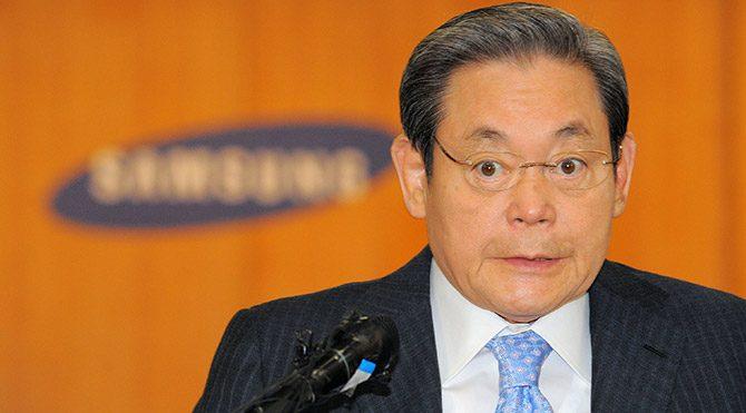 Samsung'un patronu tekerlikli sandalyede