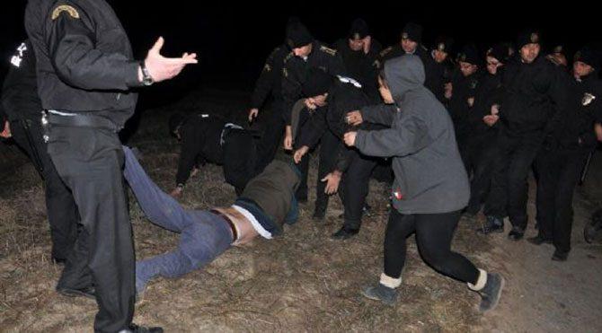 Meğer köylüler güvenlikçileri dövmüş