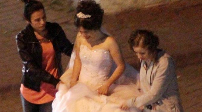 Düğün yolunda taciz iddiasıyla gözaltı