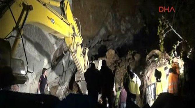 Tünelde göçük: 1 ölü
