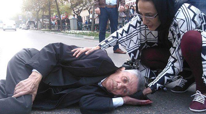Yalçınbayır'ın kayınpederine taksi çarptı