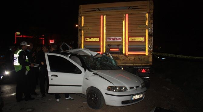 Mersin'de feci kaza: 4 ölü, 2 yaralı