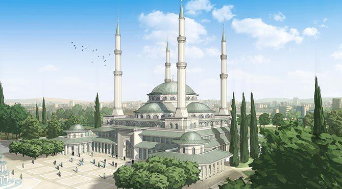 İşte KAÇ-Ak Saray'ın camisi