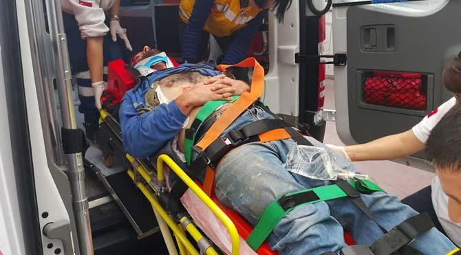 Üzerine mermer düşen işçi yaralandı