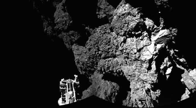 Philae kapsülü ilk fotoğrafı gönderdi