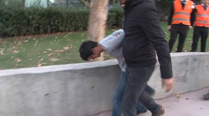 Taksim'de tinerci dehşeti!