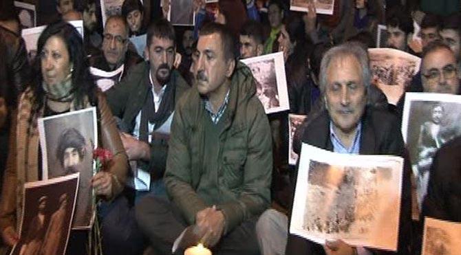 Beyoğlu'nda Dersim olayları protestosu