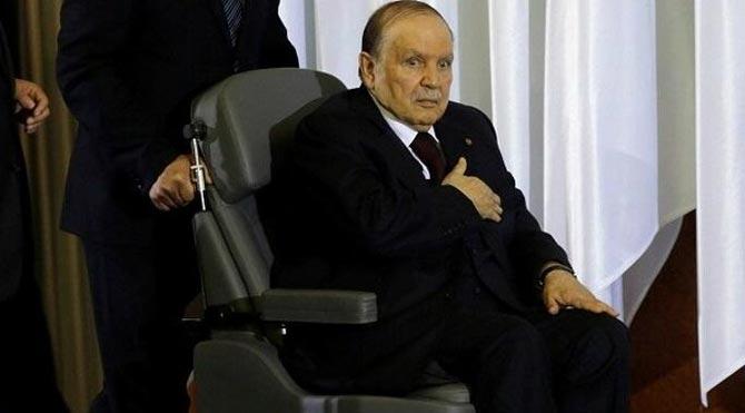 Cezayir lideri hastaneye kaldırıldı