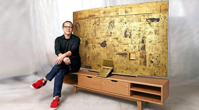 Samsung'tan altın kaplamalı UHD TV