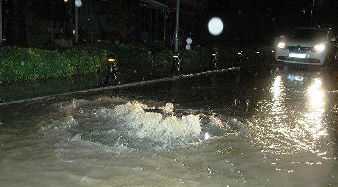 Aydın'da şiddetli yağış