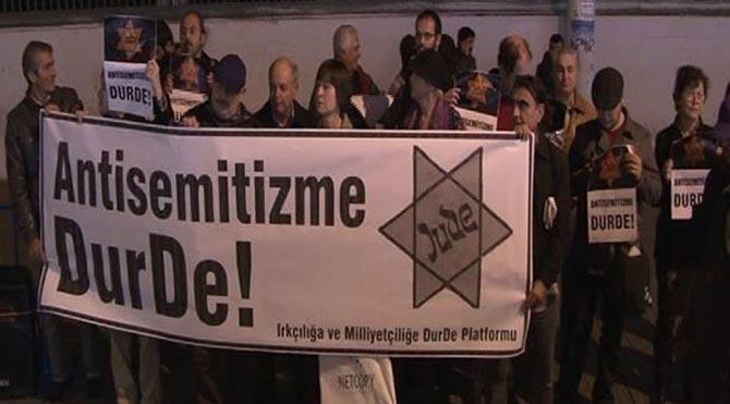 Sinagogu tehdit mesajına protesto!