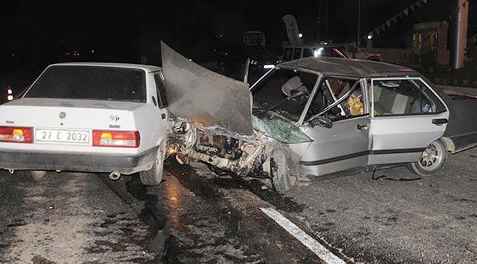 Gaziantep'te zincirleme kaza: 12 yaralı