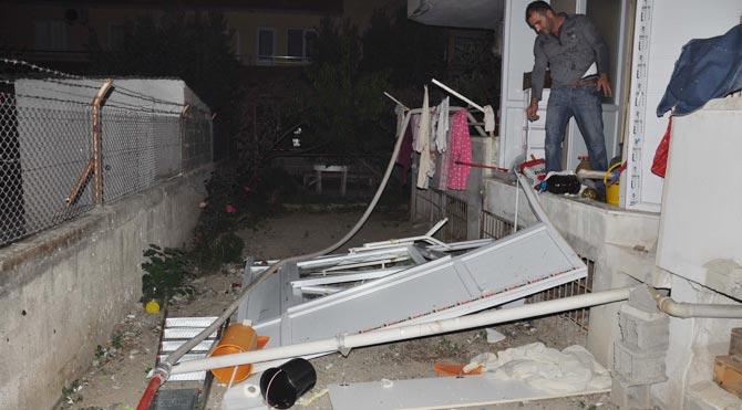 Mersin'de gaz sıkışması sonucu patlama