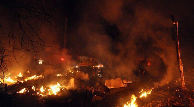 Çorum'da köy yangını!
