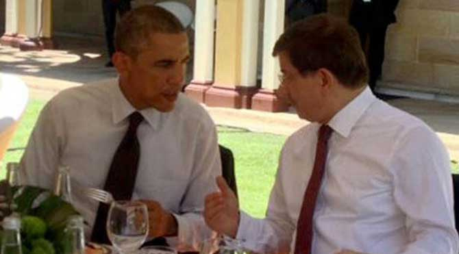 Davutoğlu, ABD Başkanı Obama ile görüştü