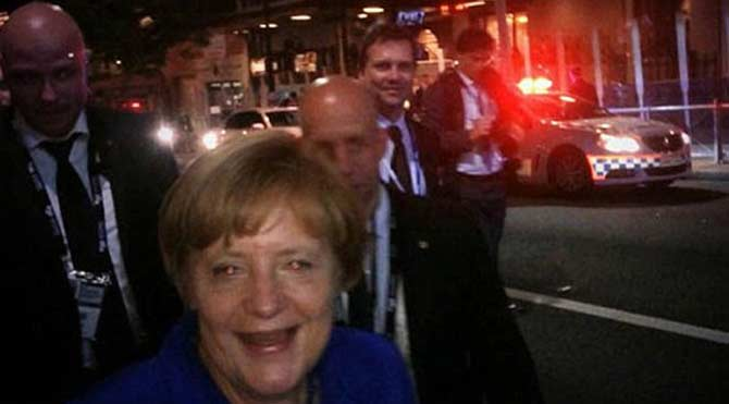 Merkel gece kulübünde