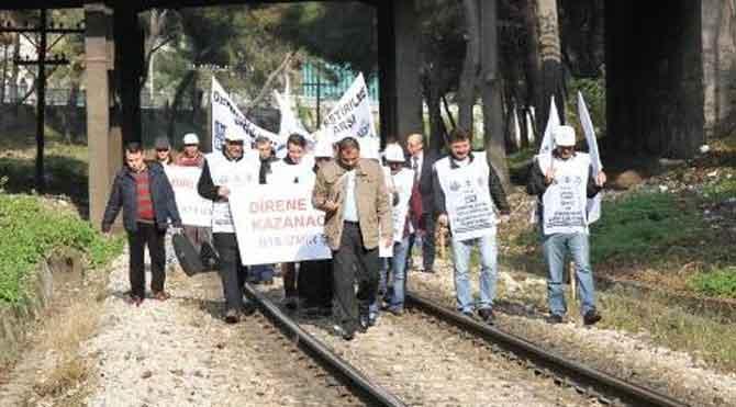 Demiryolu işçileri Ankara yolunda