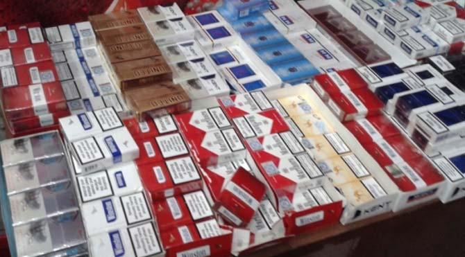 6 bin 900 paket kaçağı sigara ele geçirildi