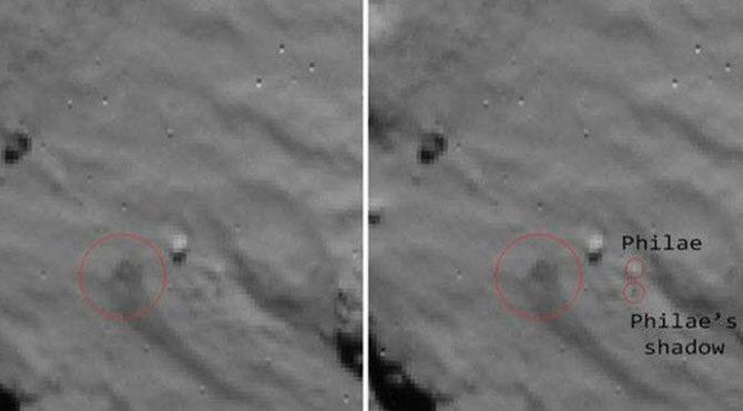 ESA Philae modülünün sorunlu inişi fotoğraflandı