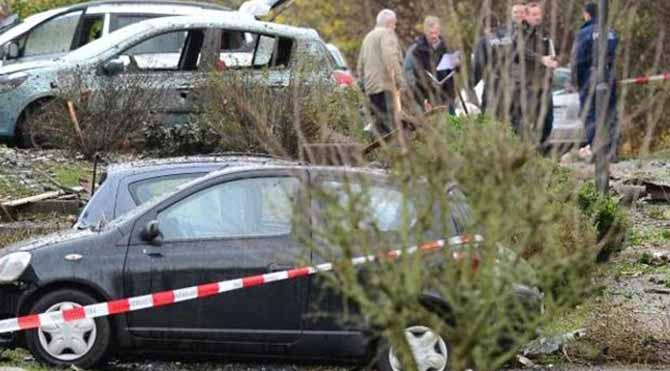 Kendi aracını havaya uçurdu: 1 ölü, 5 yaralı