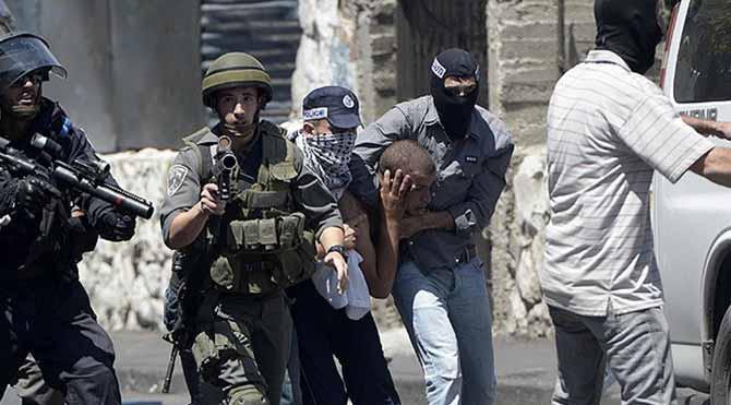 Batı Şeria'da 11 Filistinliye gözaltı