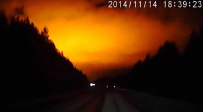 Meteorlar böyle aydınlattı
