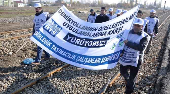 Muş'ta özelleştirme protestosu