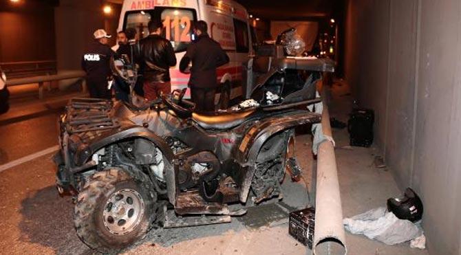 Beyoğlu'nda ATV kazası