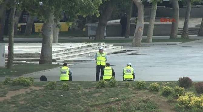 Gezi Parkı yanına konulan durak kaldırıldı