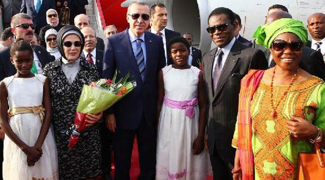 Erdoğan Ekvator Ginesi'nde!