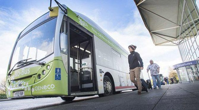 Dışkıyla çalışan otobüs resmen faaliyette