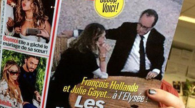 Hollande ile Gayet Elysee'de ilk kez fotoğraflandı