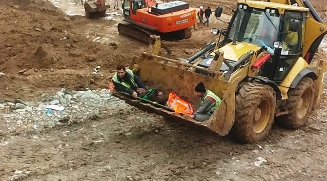 TÜİK inşaatında kaza