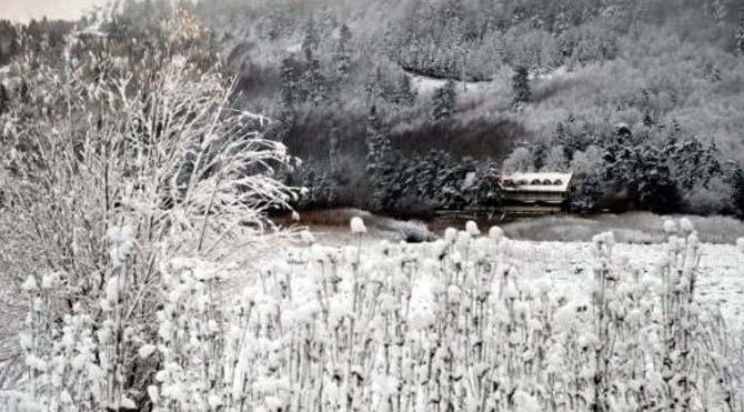 Abant'ta kar başladı