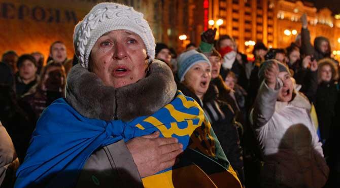 Ukrayna'da protestoların yıldönümü