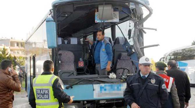 Antalya'da otobüs kazası