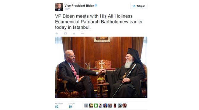 Biden'den 'Ekümenik' tweeti