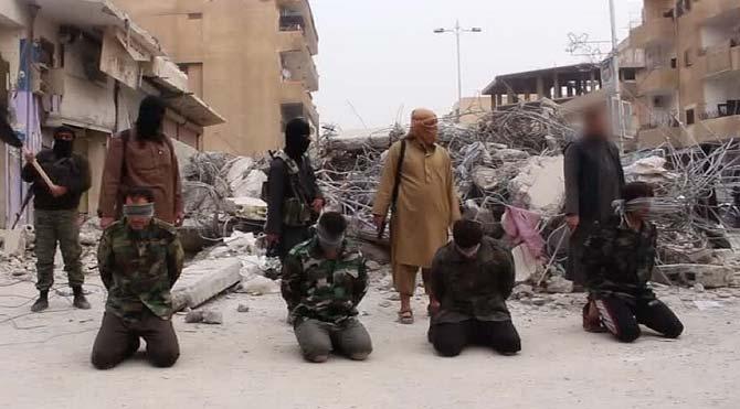 IŞİD 4 Esad askerini infaz etti
