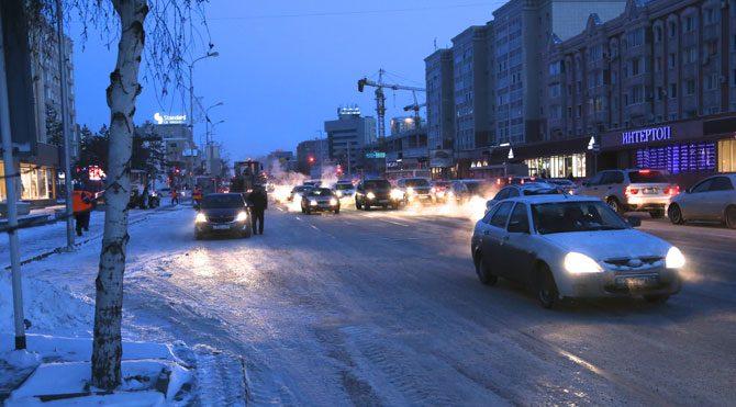 Kazakistan'da dondurucu soğuk