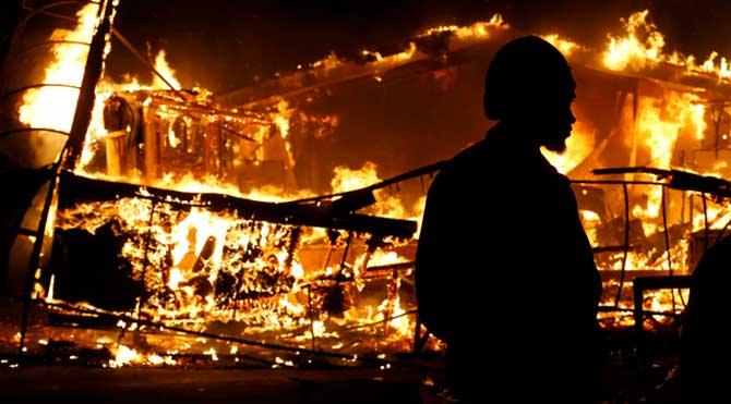 Ferguson'daki olaylardan görüntüler
