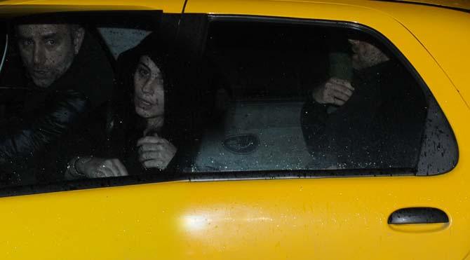 Takside saklandı