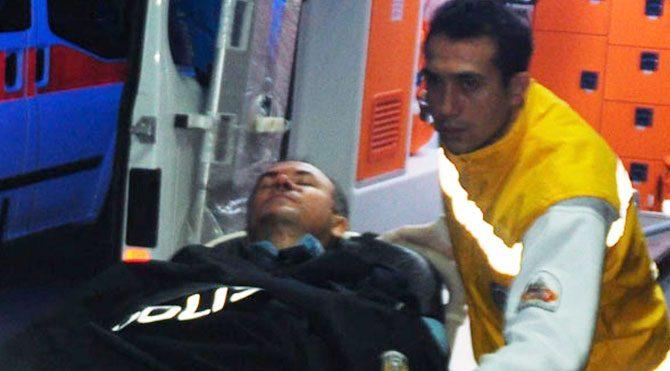 Kaçarken 2 polisi yaraladı!