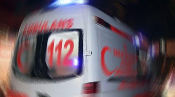 Konya'da midibüs devrildi