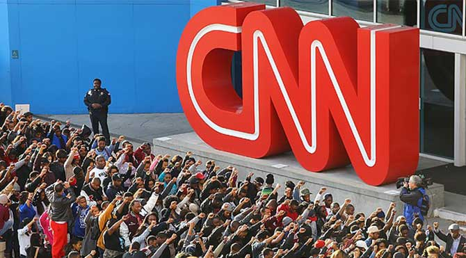 CNN'e Ferguson protestosu