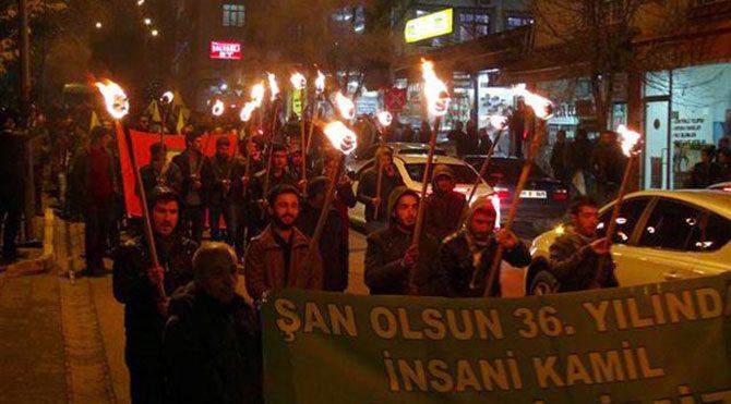 Tunceli'de meşaleli protesto