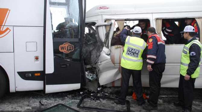 Nevşehir'de feci kaza!