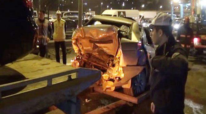 TEM'de kaza: 2 yaralı