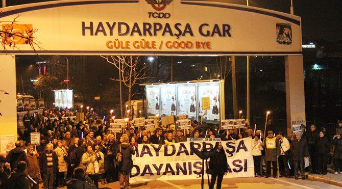 Haydarpaşa Garı'nda protesto!