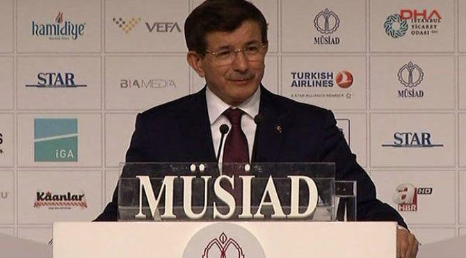 Davutoğlu, MÜSİAD programında konuştu!